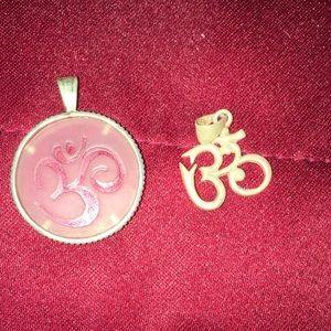"""Jewelry - """"OM """" pendants sterling silver"""